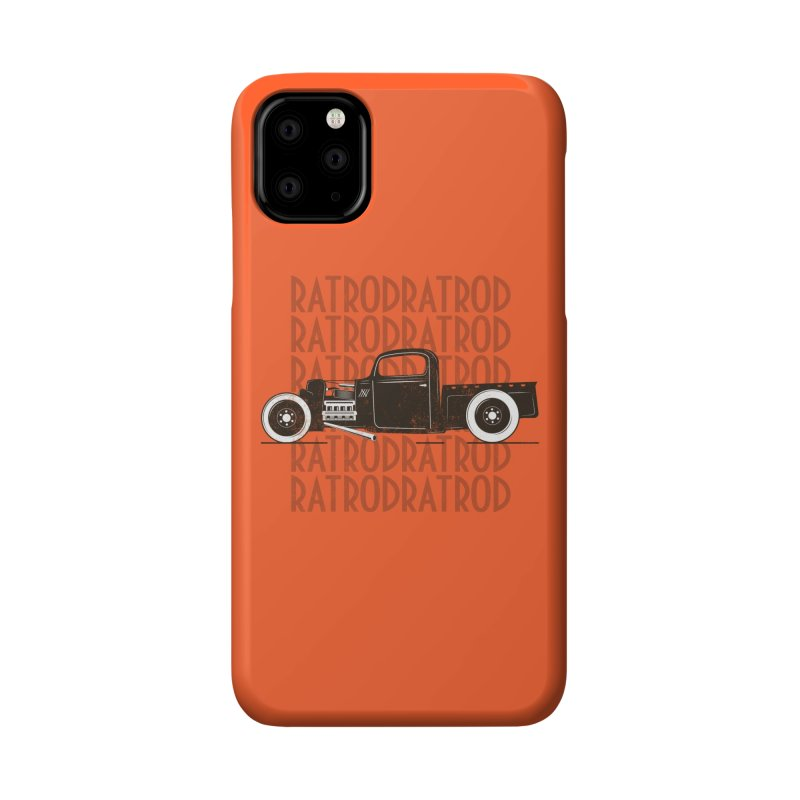 Rat Rod Hot Rod T-shirt Accessories Phone Case by MadeByBono