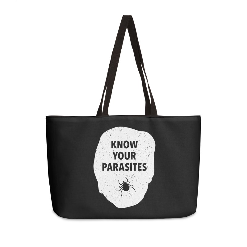 Know Your Parasites T-shirt Accessories Weekender Bag Bag by MadeByBono