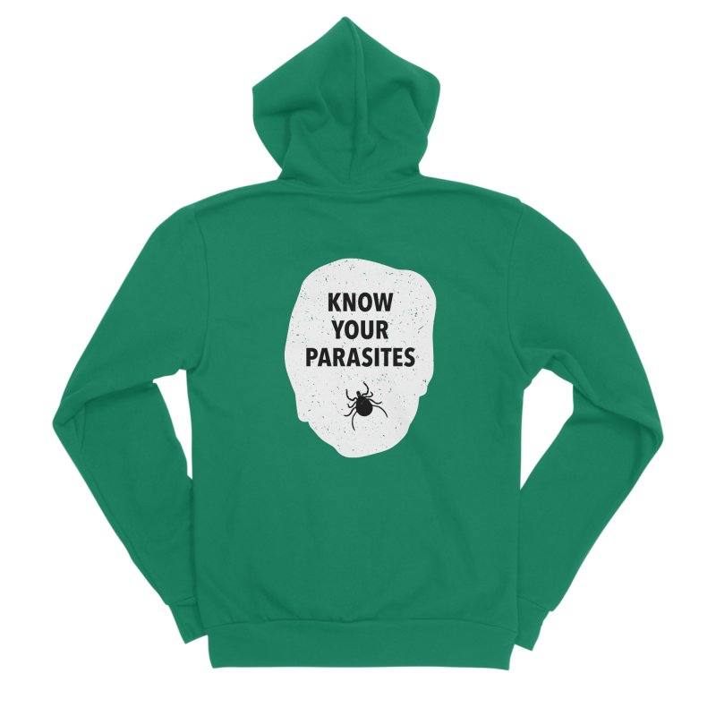Know Your Parasites T-shirt Women's Sponge Fleece Zip-Up Hoody by MadeByBono