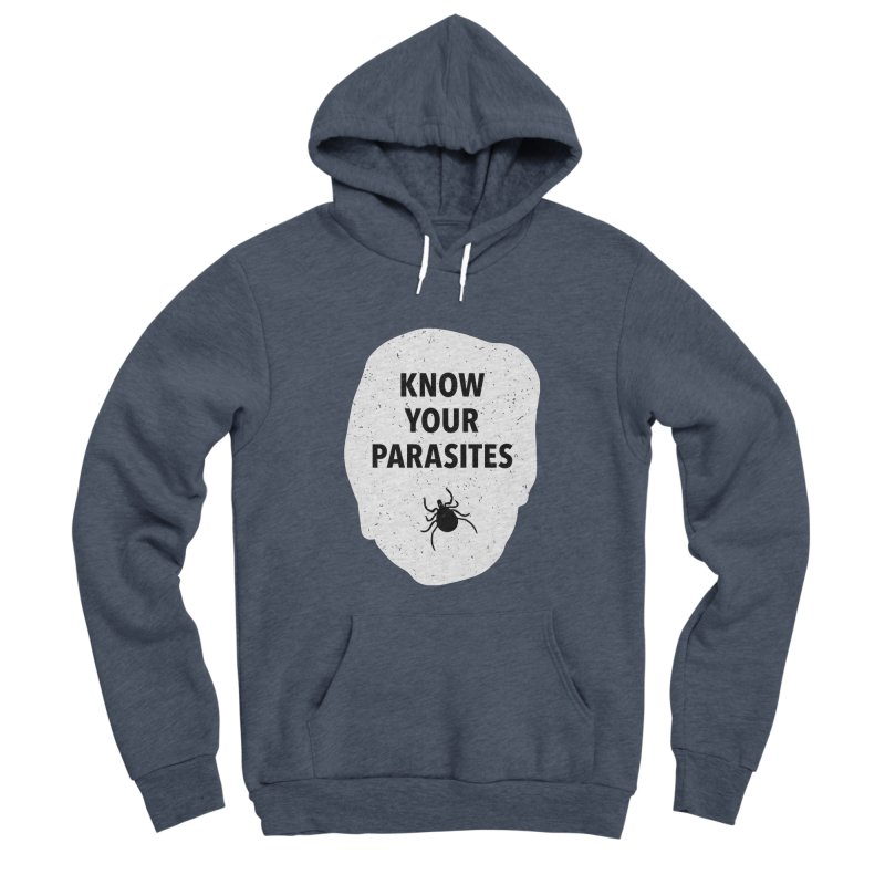 Know Your Parasites T-shirt Men's Sponge Fleece Pullover Hoody by MadeByBono