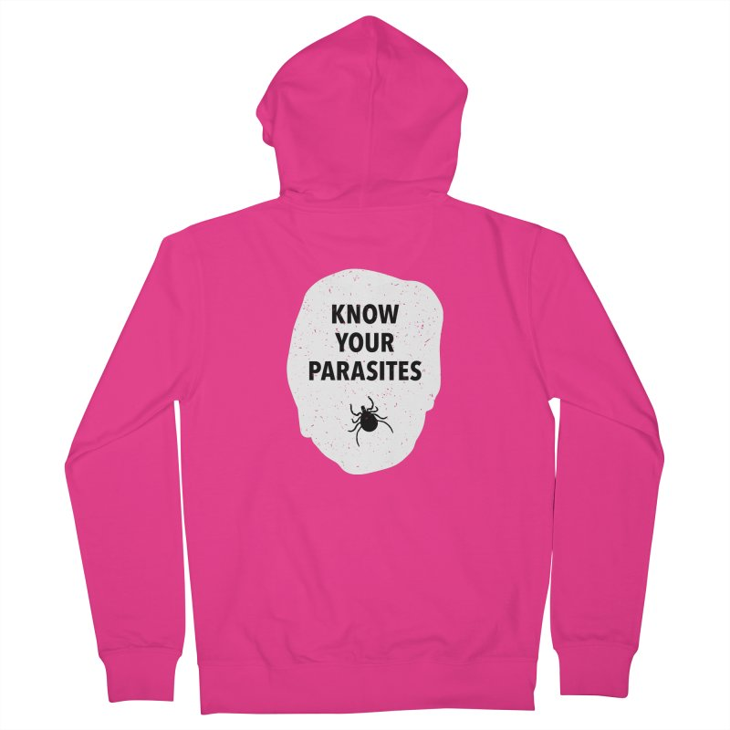 Know Your Parasites T-shirt Men's French Terry Zip-Up Hoody by MadeByBono