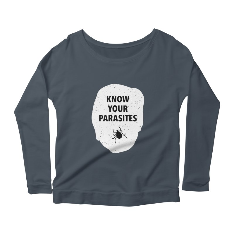 Know Your Parasites T-shirt Women's Scoop Neck Longsleeve T-Shirt by MadeByBono