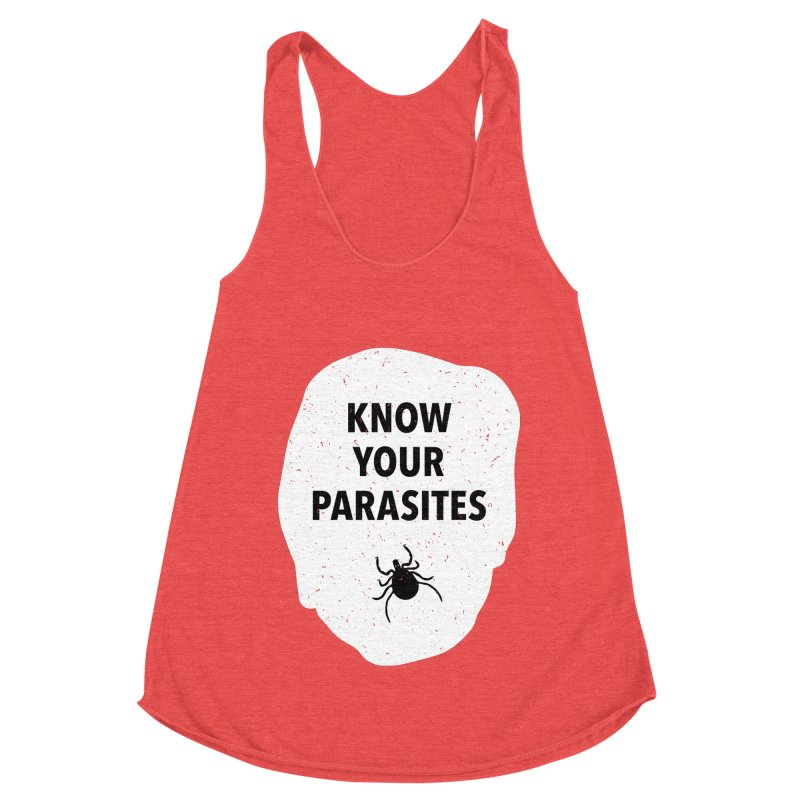 Know Your Parasites T-shirt Women's Racerback Triblend Tank by MadeByBono