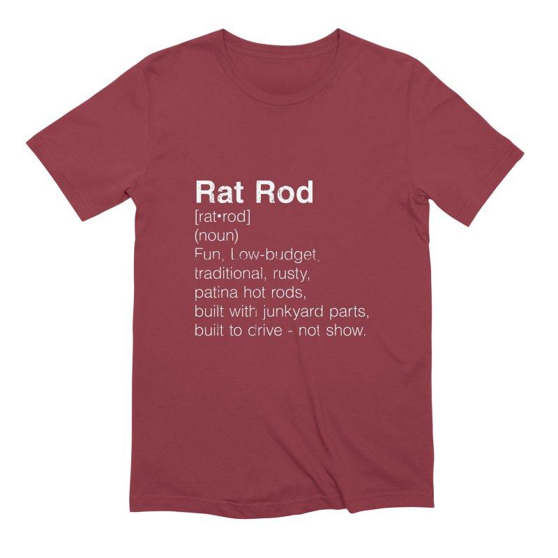 Rat Rod Definition T-shirt Men's Extra Soft T-Shirt by MadeByBono