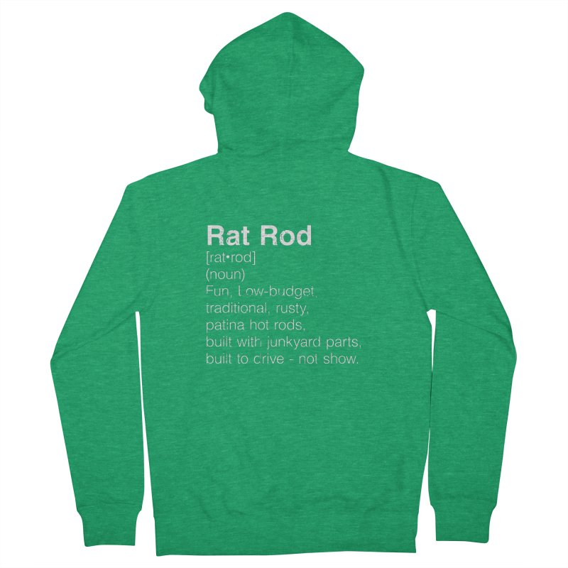 Rat Rod Definition T-shirt Men's Zip-Up Hoody by MadeByBono
