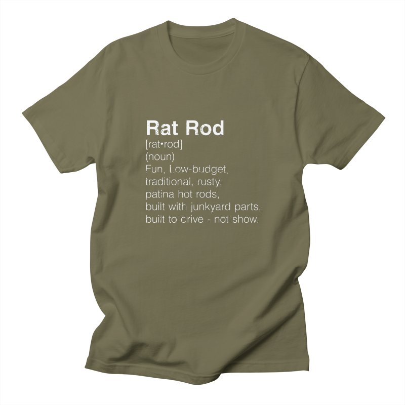 Rat Rod Definition T-shirt Men's Regular T-Shirt by MadeByBono