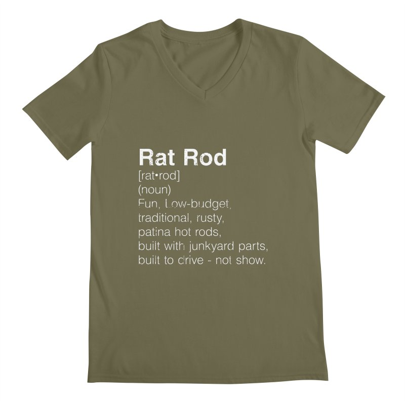 Rat Rod Definition T-shirt Men's Regular V-Neck by MadeByBono