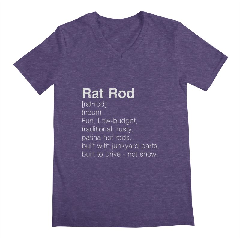Rat Rod Definition T-shirt Men's Regular V-Neck by MadeByBono