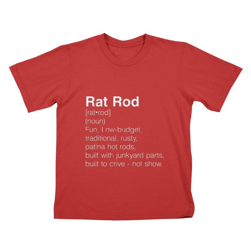 Rat Rod Definition T-shirt Kids T-Shirt by MadeByBono