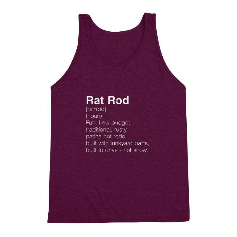 Rat Rod Definition T-shirt Men's Triblend Tank by MadeByBono