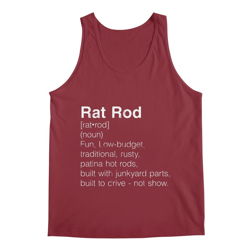 Rat Rod Definition T-shirt Men's Regular Tank by MadeByBono