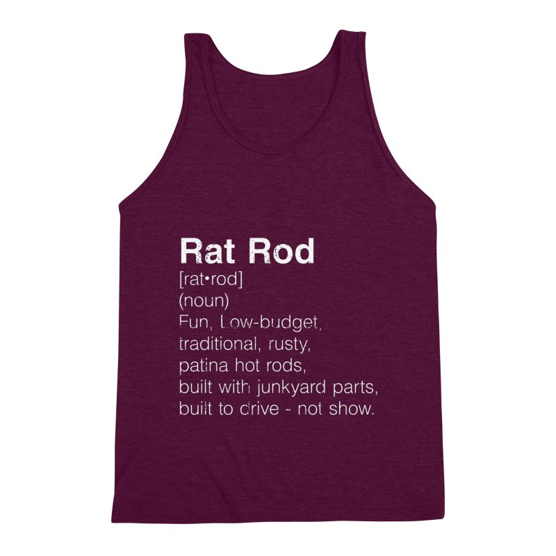 Rat Rod Definition T-shirt Men's Triblend Tank by MadeByBono