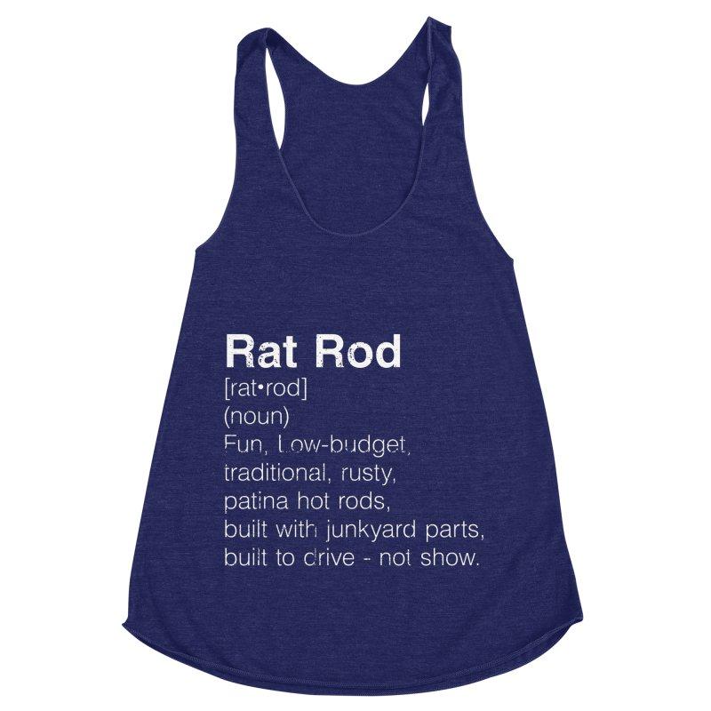 Rat Rod Definition T-shirt Women's Racerback Triblend Tank by MadeByBono
