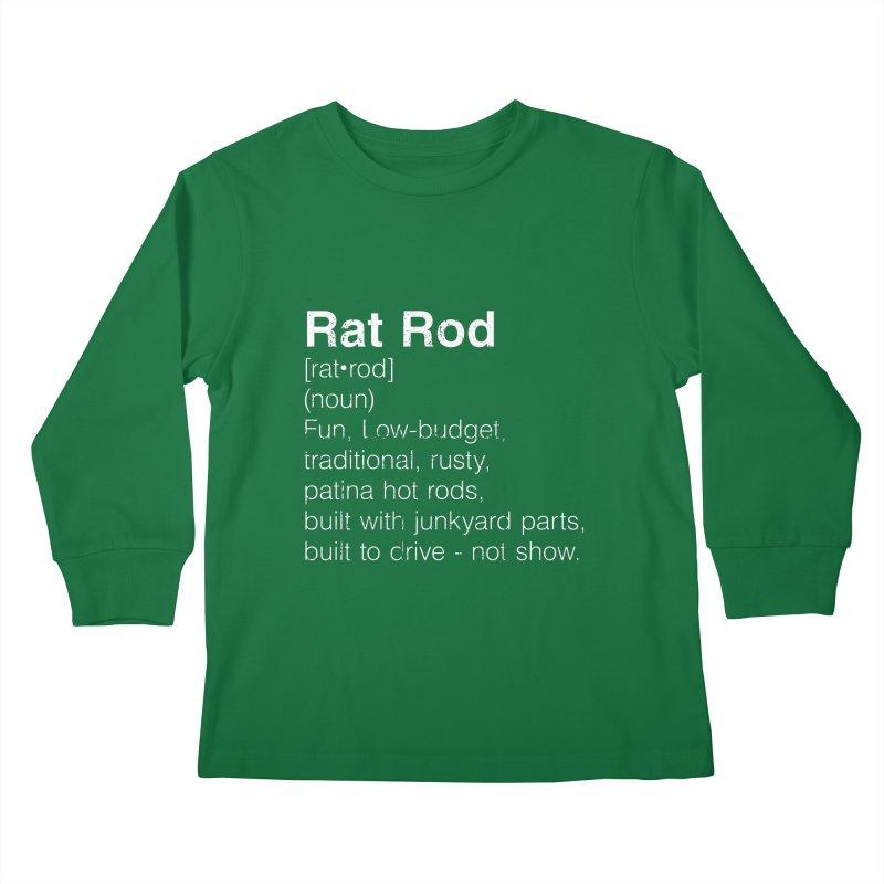 Rat Rod Definition T-shirt Kids Longsleeve T-Shirt by MadeByBono