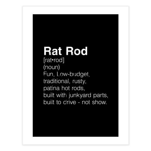 image for Rat Rod Definition T-shirt