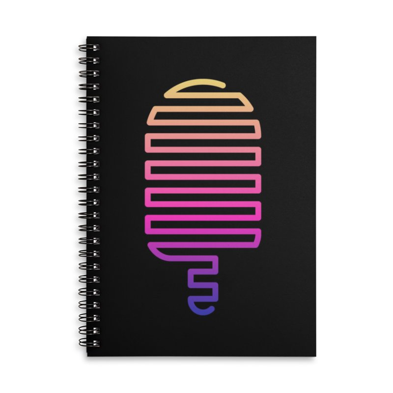 Linear Ice Cream T-shirt Accessories Lined Spiral Notebook by MadeByBono