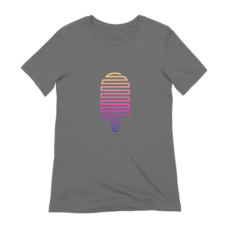 Linear Ice Cream T-shirt Women's Extra Soft T-Shirt by MadeByBono