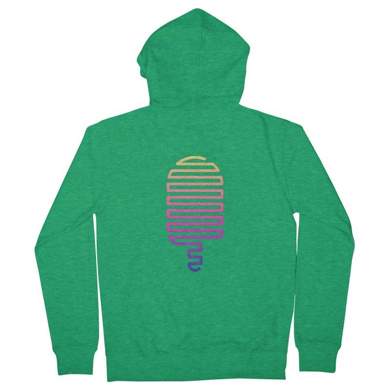 Linear Ice Cream T-shirt Men's Zip-Up Hoody by MadeByBono
