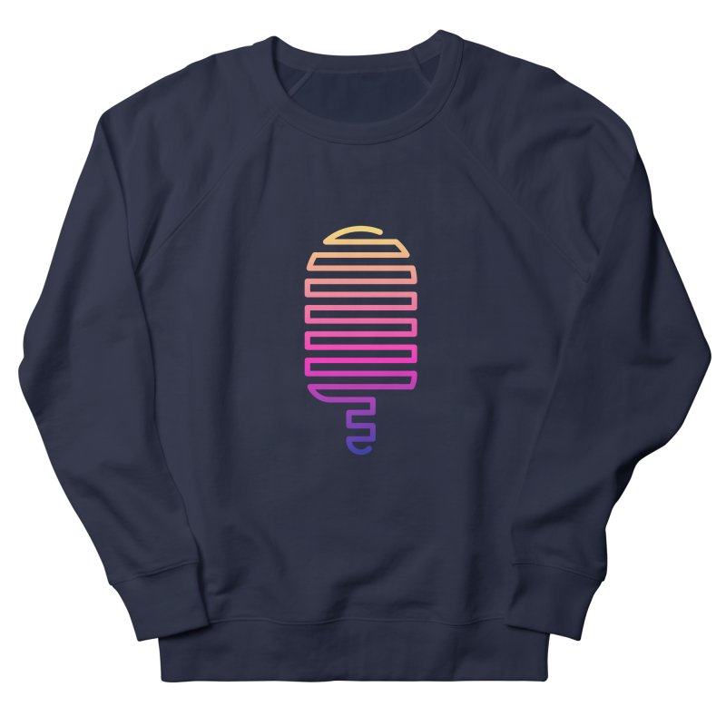 Linear Ice Cream T-shirt in Men's French Terry Sweatshirt Navy by MadeByBono