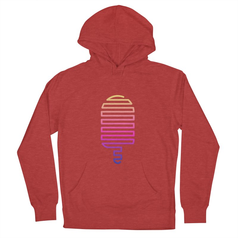 Linear Ice Cream T-shirt Women's French Terry Pullover Hoody by MadeByBono