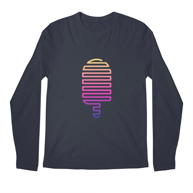 Linear Ice Cream T-shirt Men's Regular Longsleeve T-Shirt by MadeByBono