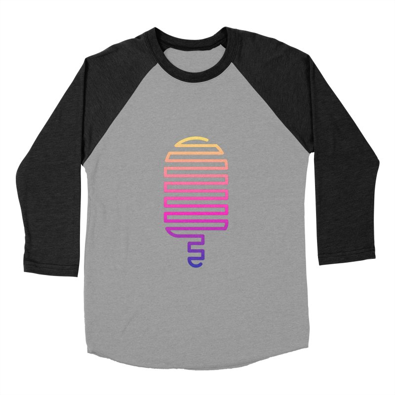 Linear Ice Cream T-shirt Women's Baseball Triblend Longsleeve T-Shirt by MadeByBono