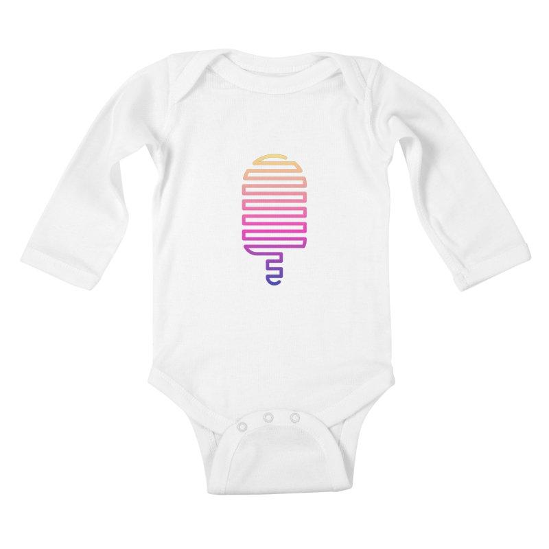 Linear Ice Cream T-shirt Kids Baby Longsleeve Bodysuit by MadeByBono