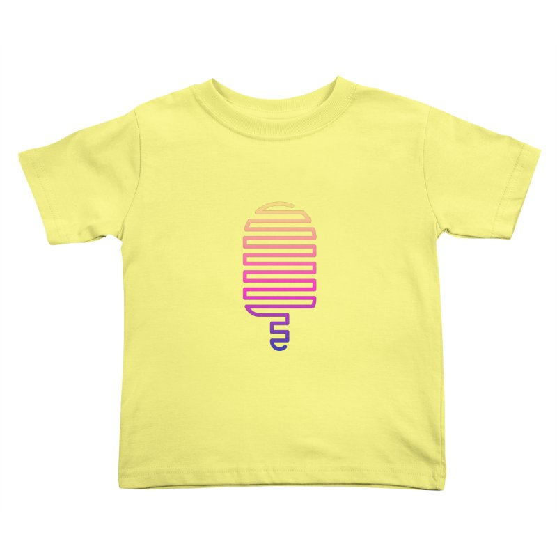 Linear Ice Cream T-shirt Kids Toddler T-Shirt by MadeByBono