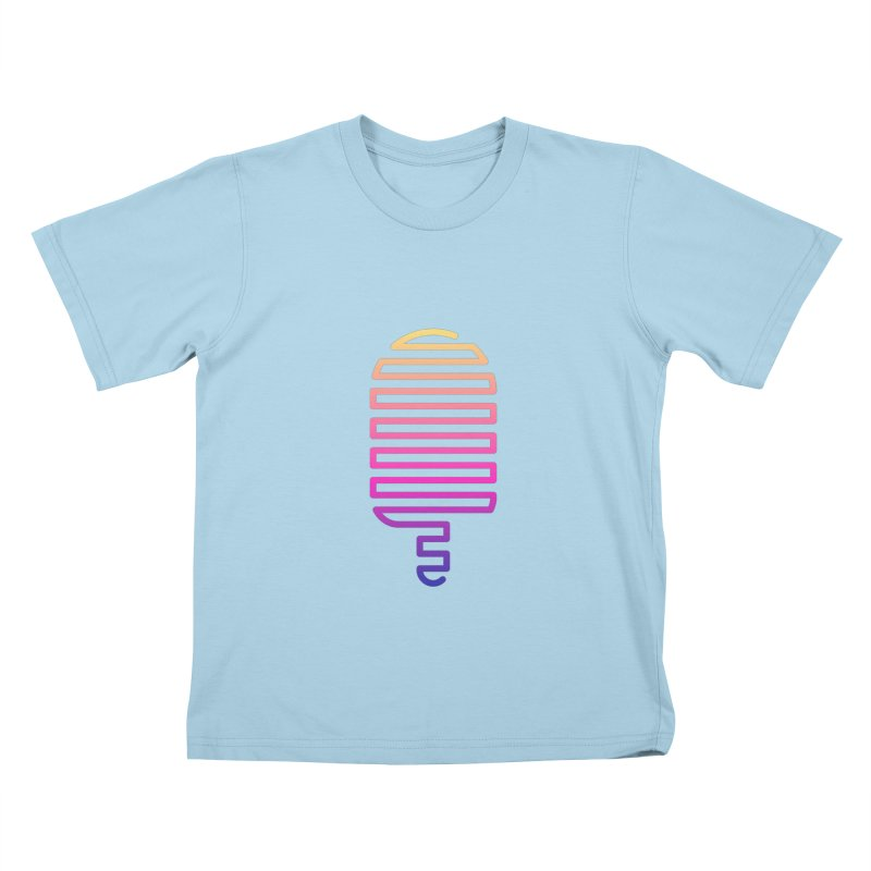 Linear Ice Cream T-shirt Kids T-Shirt by MadeByBono