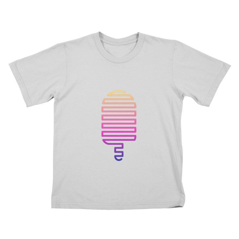Linear Ice Cream T-shirt Kids T-Shirt by MadeByBono