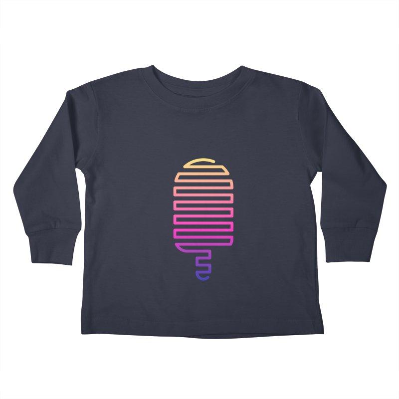 Linear Ice Cream T-shirt Kids Toddler Longsleeve T-Shirt by MadeByBono