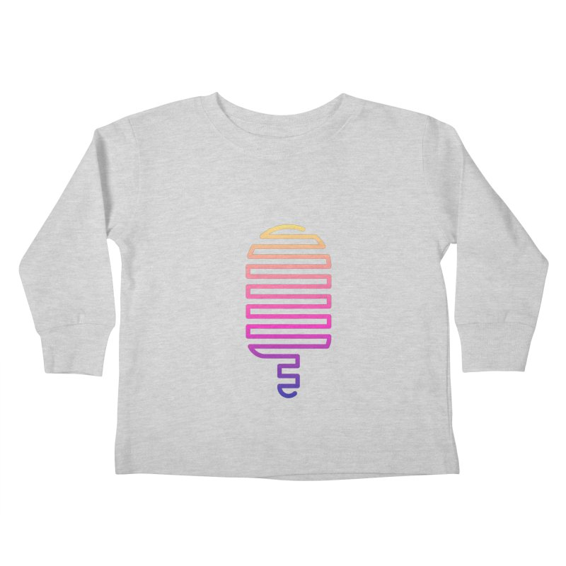 Linear Ice Cream T-shirt Kids Toddler Longsleeve T-Shirt by MadeByBono