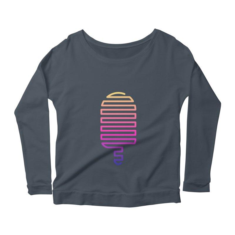 Linear Ice Cream T-shirt Women's Scoop Neck Longsleeve T-Shirt by MadeByBono