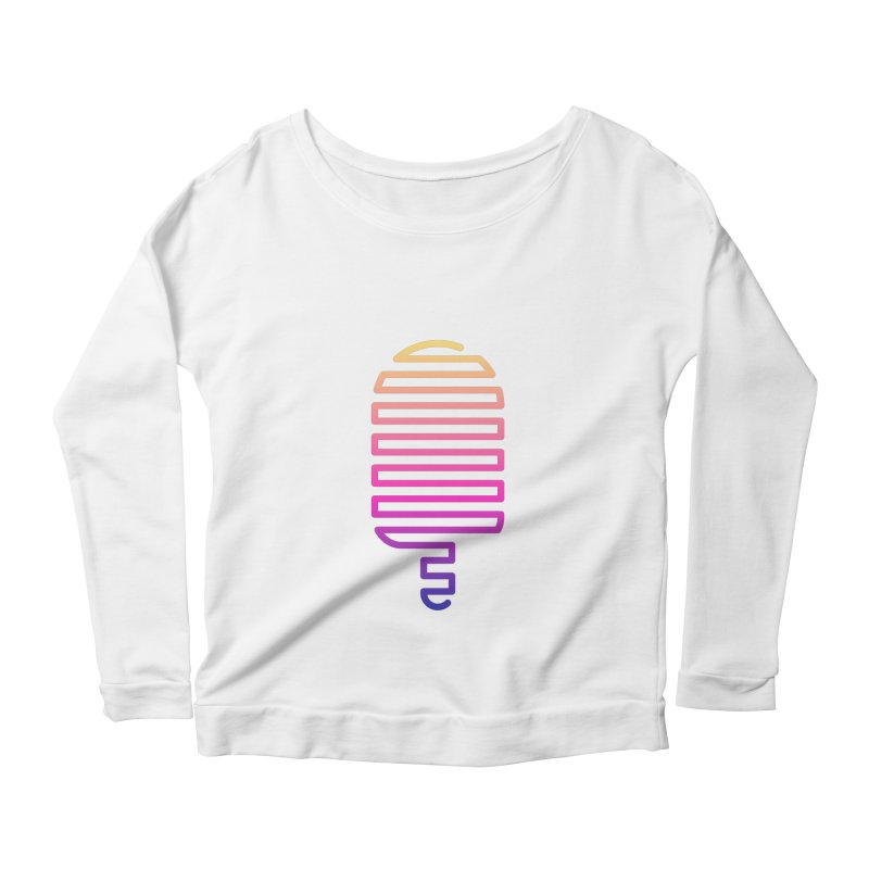 Linear Ice Cream T-shirt Women's Scoop Neck Longsleeve T-Shirt by MadeByBono