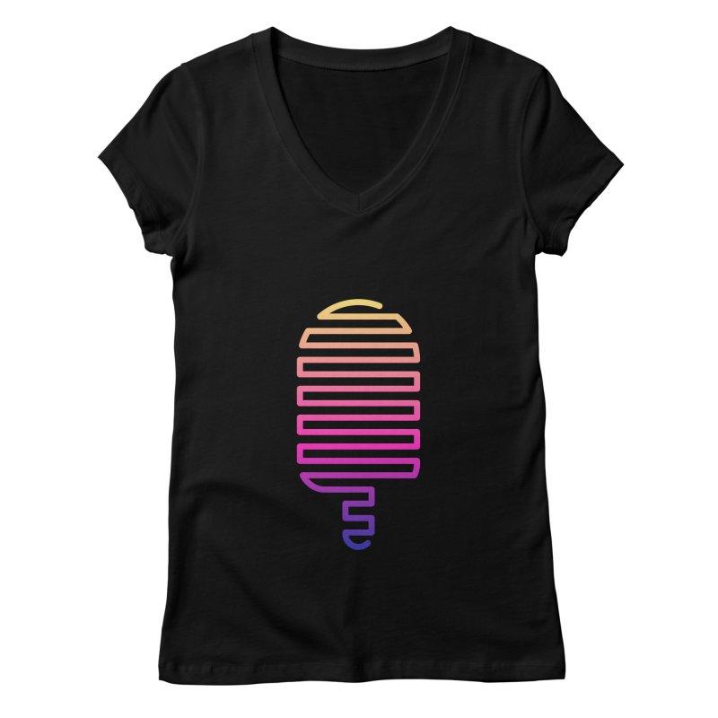 Linear Ice Cream T-shirt Women's V-Neck by MadeByBono