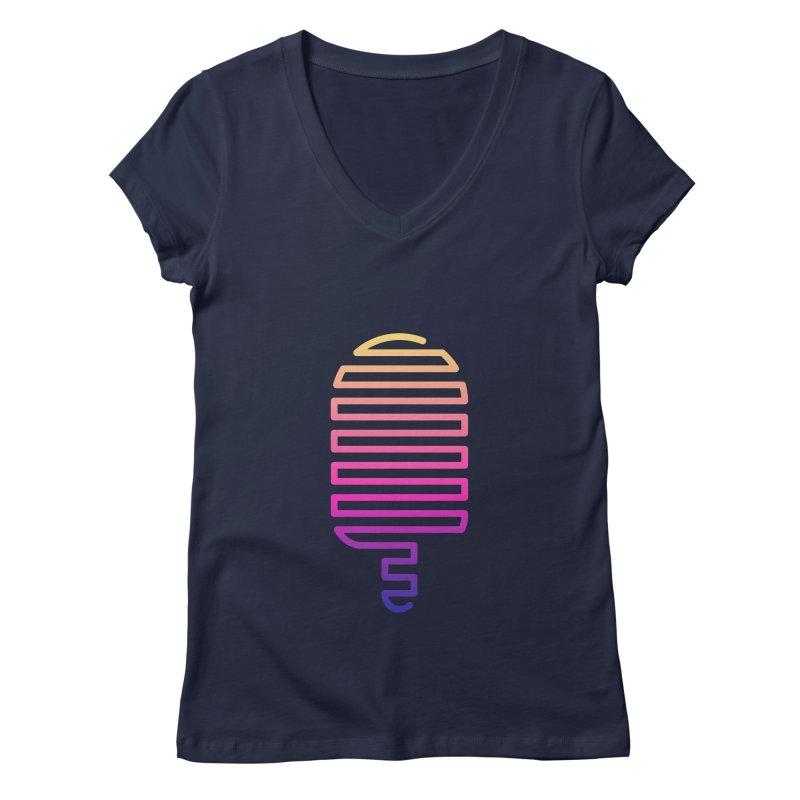 Linear Ice Cream T-shirt Women's Regular V-Neck by MadeByBono