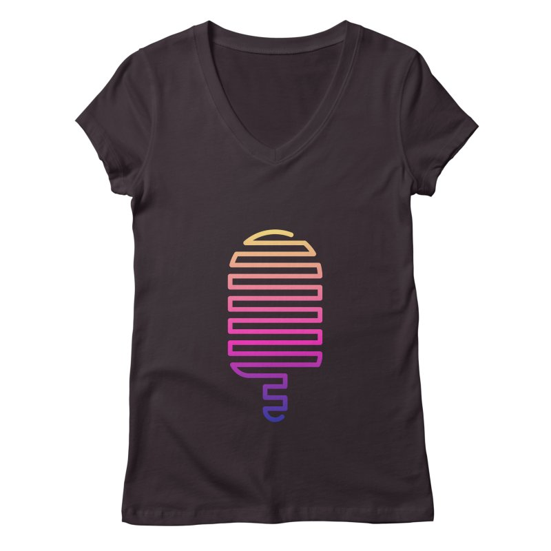 Linear Ice Cream T-shirt Women's Regular V-Neck by MadeByBono