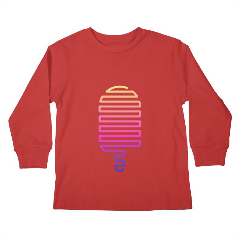 Linear Ice Cream T-shirt Kids Longsleeve T-Shirt by MadeByBono