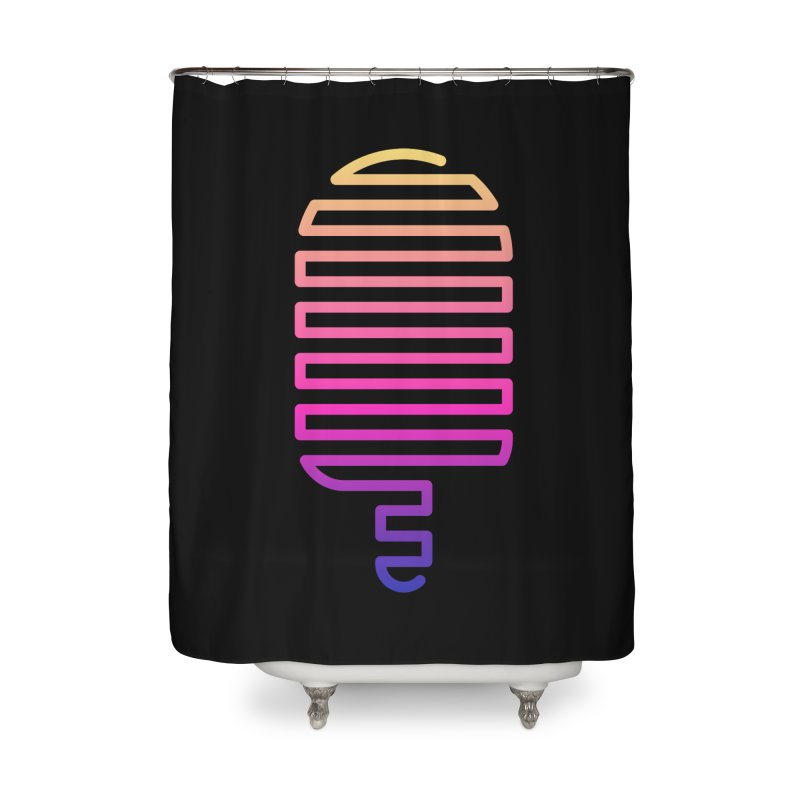 Linear Ice Cream T-shirt Home Shower Curtain by MadeByBono