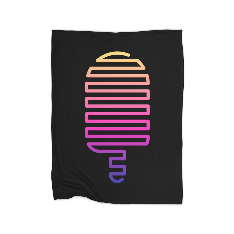 Linear Ice Cream T-shirt Home Fleece Blanket Blanket by MadeByBono