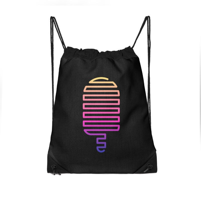 Linear Ice Cream T-shirt Accessories Drawstring Bag Bag by MadeByBono