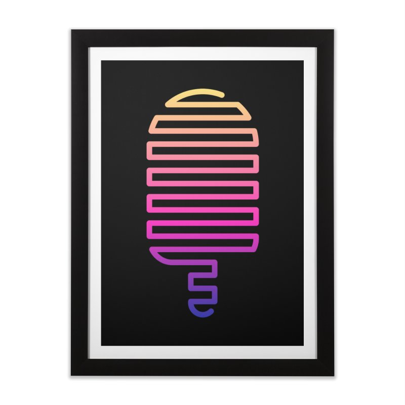 Linear Ice Cream T-shirt Home Framed Fine Art Print by MadeByBono