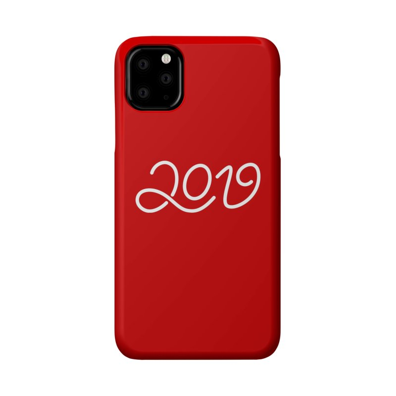 Happy New Year 2019 T-shirt LOV T-shirt Accessories Phone Case by MadeByBono