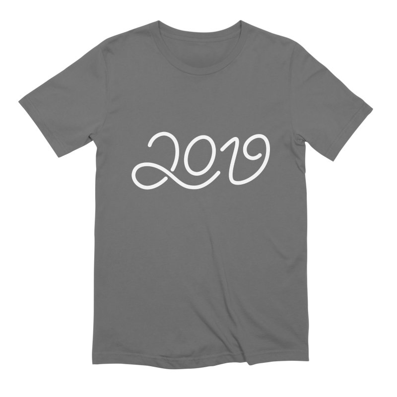 Happy New Year 2019 T-shirt LOV T-shirt Men's Extra Soft T-Shirt by MadeByBono