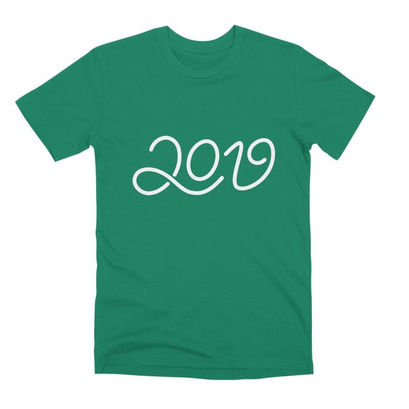 Happy New Year 2019 T-shirt LOV T-shirt Men's Premium T-Shirt by MadeByBono