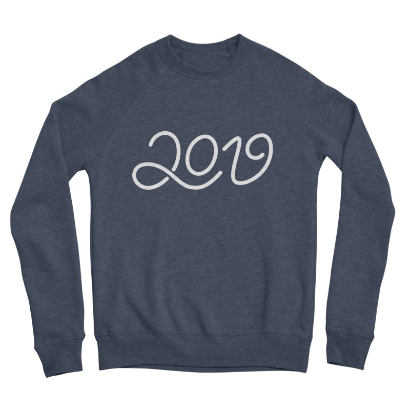 Happy New Year 2019 T-shirt LOV T-shirt Men's Sponge Fleece Sweatshirt by MadeByBono