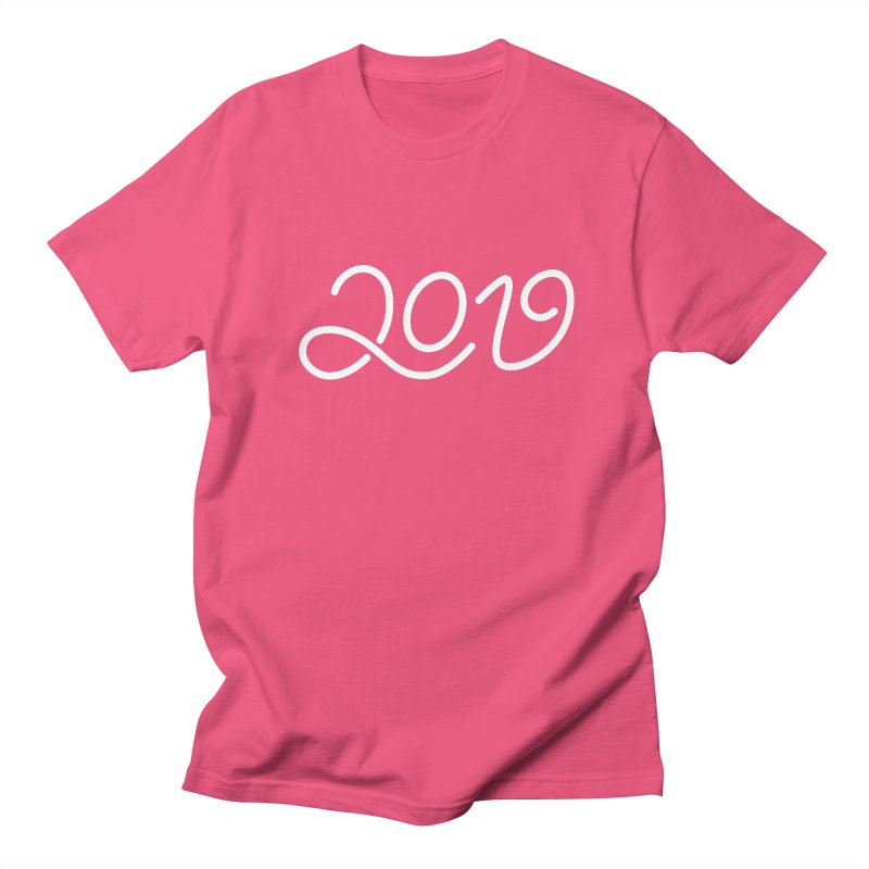 Happy New Year 2019 T-shirt LOV T-shirt Men's Regular T-Shirt by MadeByBono