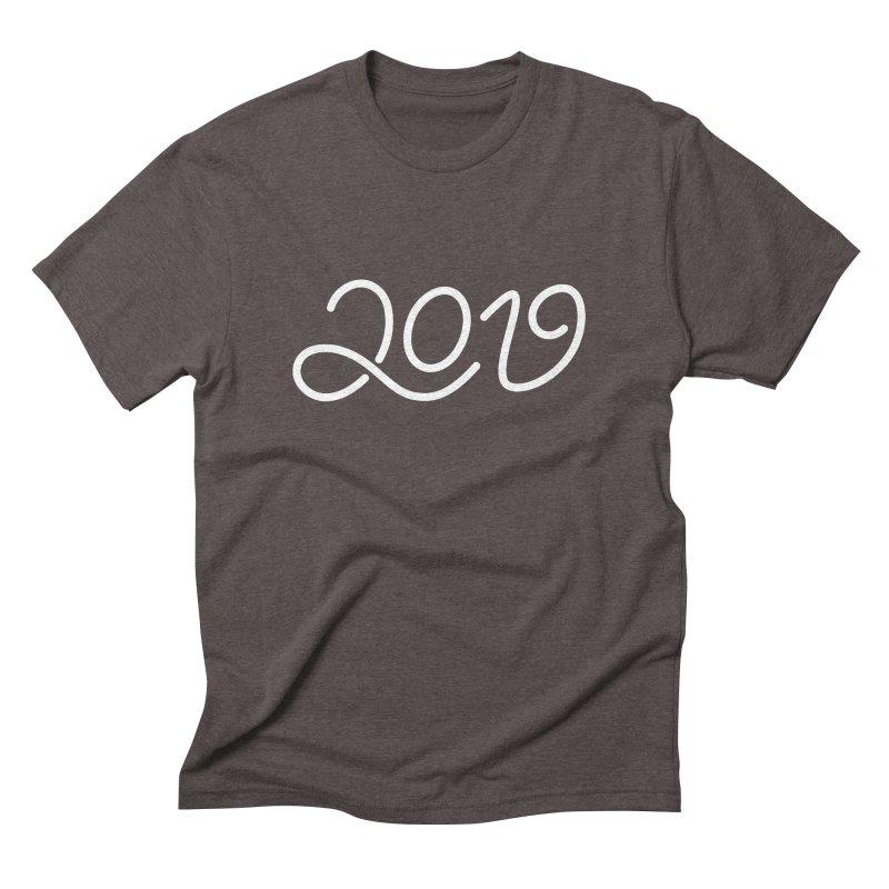Happy New Year 2019 T-shirt LOV T-shirt Men's Triblend T-Shirt by MadeByBono