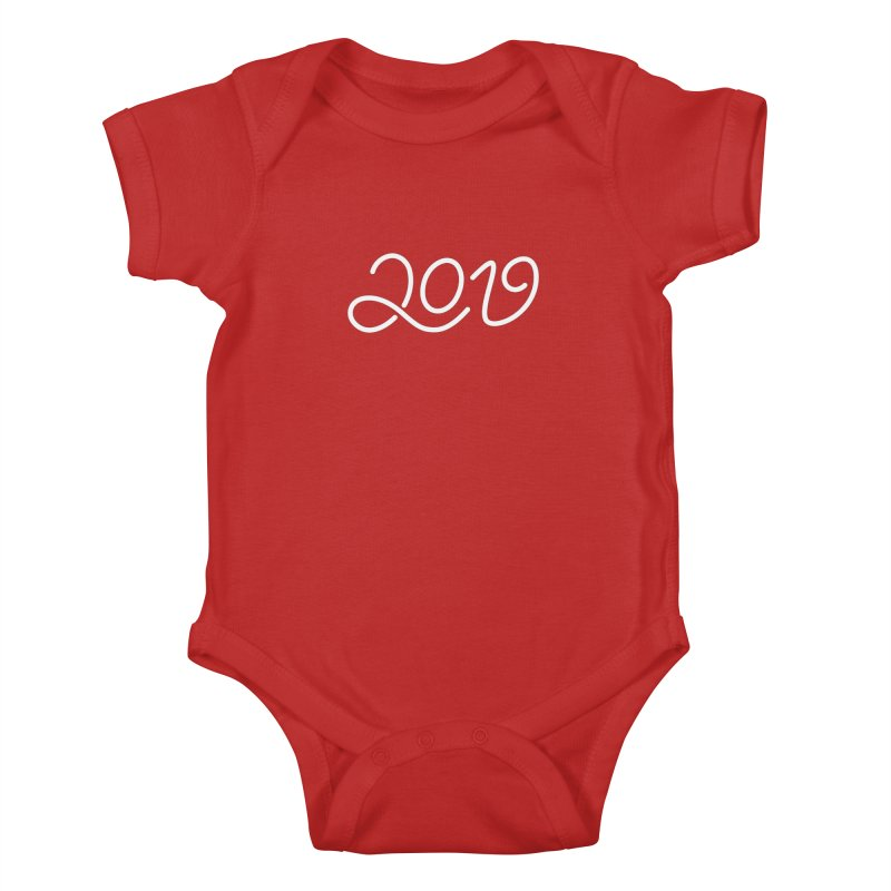Happy New Year 2019 T-shirt LOV T-shirt Kids Baby Bodysuit by MadeByBono