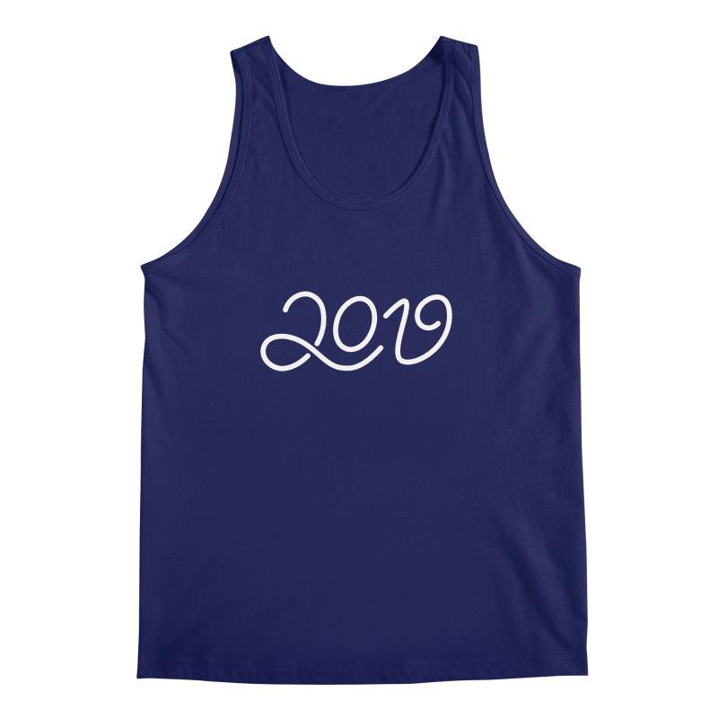 Happy New Year 2019 T-shirt LOV T-shirt Men's Regular Tank by MadeByBono